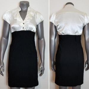 SNAP Black & White Dress